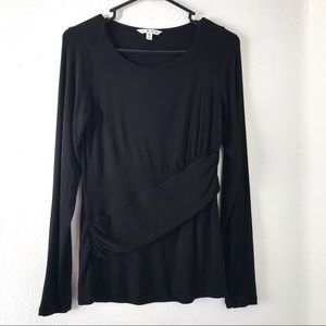 CAbi black long sleeve top size S